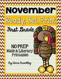 Ready, Set, Print: November Math and Literacy Printables