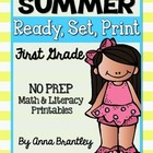 Ready, Set, Print: Summer Math and Literacy Printables