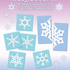 Ready, Set, Snow! Printable Snowflakes to Match Pairs and Halves