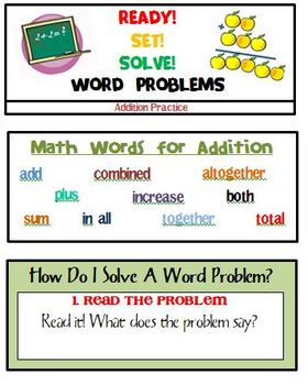 Ready! Set! Solve! Addition Word Problem Practice