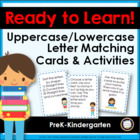 Ready to Learn! Alphabet Cards, Task Cards, and Game