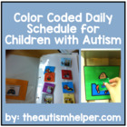 Ready to go Color Coded Daily Picture Schedule - Great for
