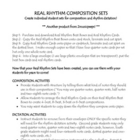 Real Rhythm Composition Sets