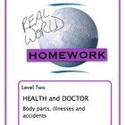 Real World Homework Chart- Doctor, Health (Sp, Fr)