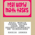 Real World Shopping Math Cards