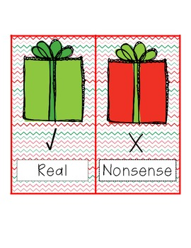 Real or Nonsense Sort - Christmas themed