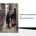 Realism and Naturalism in American Literature Powerpoint