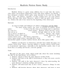 Realistic Fiction Genre Study -- Using Tales of a Fourth G