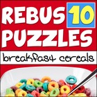Rebus &quot;Wuzzle&quot; Puzzle Worksheet 10 - BREAKFAST CEREALS
