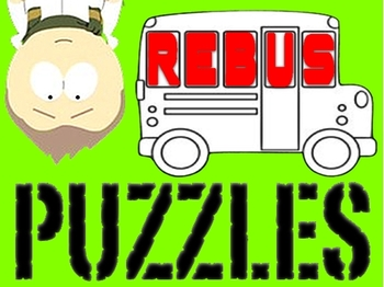 "Rebus ""Wuzzle"" Puzzle Worksheet 4 - teachmehowtoALGE"