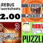 "Rebus ""Wuzzle"" Puzzle Worksheet BUNDLE (WORKSHEETS 3, 4, & 5)"