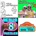 Rebus &quot;Wuzzle&quot; Puzzle Worksheet BUNDLE (WORKSHEETS 6, 7, &amp; 8)