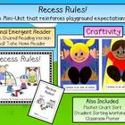 Recess Rules! Emergent Reader &amp; Craftivity Pack