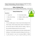 Recipe for Reading Comprehension- Christmas Tree