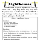 Recipe for Reading Comprehension - Lighthouses