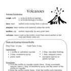 Recipe for Reading Comprehension - Volcanoes