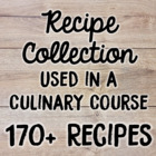 Recipes Used in Culinary Arts Program and Fundraising Idea