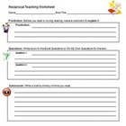 Reciprocal Teaching Grapic Organizer