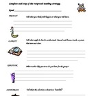 Reciprocal Teaching Student Record Sheet