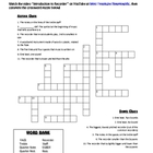 Recorder Crossword Puzzle with Recorder Intro Video