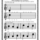 Recorder Mad Minutes and Music Spelling Worksheets - Set of 10