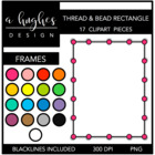 Rectangle Bead & Thread Frames {Graphics for Commercial Use}