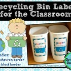 Recycling Bin Labels (EDITABLE): Create Custom Bins for Yo