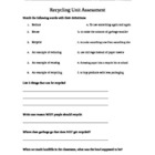 Recycling Unit Assessment