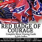 Red Badge of Courage Movie Guide/Organizer -Good 4 End of Year
