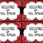 Red Bandana Welcome Back Post Card
