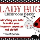 Red & Black Classroom Decor Theme {Ladybugs with Polka Dot