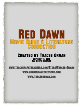 Red Dawn Movie Handout with Literature Comparison