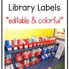 Red, Orange, Yellow, Green, & Blue Classroom Library Organization