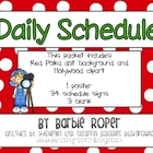 Red Polka Dot Hollywood Daily Schedule