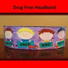 Red Ribbon Drug Free Headband