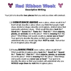 Red Ribbon Week - Descriptive Writing