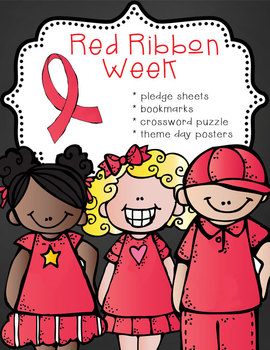 Red Ribbon Week – Just Say No activities, pledge cards, bookmarks, theme posters