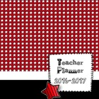 Red Starry Teacher Planbook