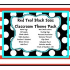 Red Teal Black Soos Mega Theme Set