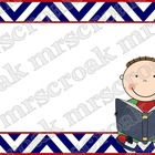Labels: Red, White & Blue Chevron, 10 per page