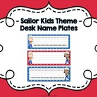 Red and Blue Polka Dot ~ Sailor Kids Desk Nameplates