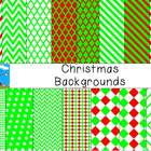 Red and Green Christmas Backgrounds