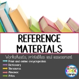 Reference Book Worksheets and Assessment
