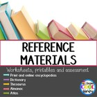 Reference book worksheets