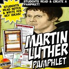 Reformation Martin Luther Posts a Pamphlet