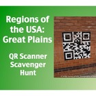 Regions of the USA:  Great Plains QR Scanner Scavenger Hun