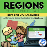 Regions of the United States Introduction Lapbook, Noteboo