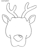 Reindeer Face/Mask