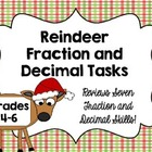 Reindeer Fraction and Decimal Math Tasks *Perfect for Holi