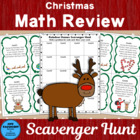 Reindeer Games Math Review Scavenger Hunt
